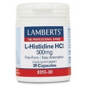 L-Histidina HCI 500mg Lamberts