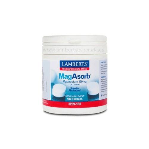 MagAsorb Lamberts 180 tabletas citrato de magnesio