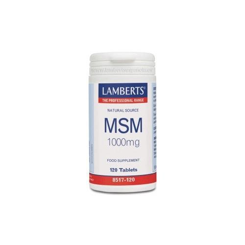Msm Lamberts 1000 mg 120 tabletas