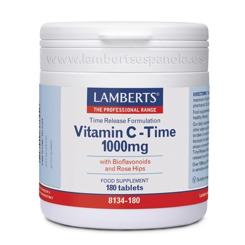 Vitamina c time lamberts 180 tabletas