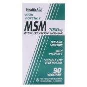 MSM 1000mg y VITC 90 com HealthAid