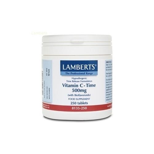 Vitamina c 500mg liberacion sostenida 250tab